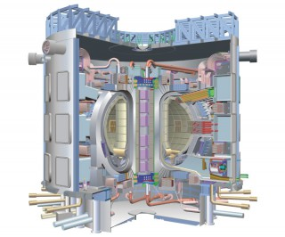 Computer generated image of the ITER fusion reactor
