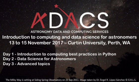 ADACS – Introduction to computing and data science for astronomers